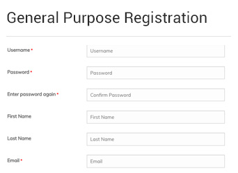 general purpose registration form