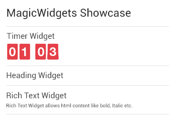 magicwidgets showcase