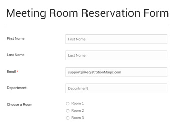 Home Meeting Room Reservation Form RM Stats